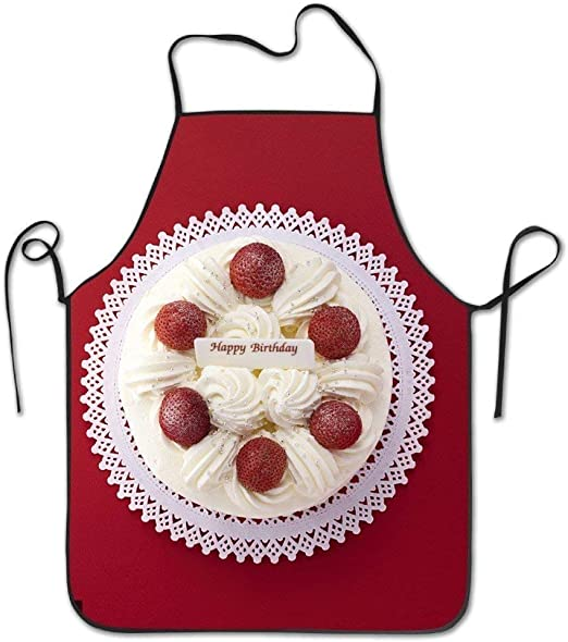 Confirmar vt Fresa cumpleaños Pastel Cocina Delantal Hombres ...