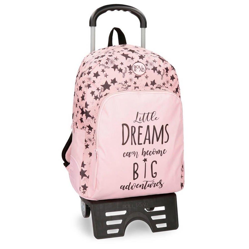 ロール道路はトロリーとのピンクのピンクの学校のバックパック44cmを夢見ます   B079Y3XR7F