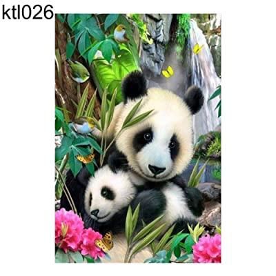 Kekailu Diamond Drawing Premium Drill DIY 5D Diamond Painting Kits 30x20cm Peacock Panda Embroidery Cross Stitch Full Round Diamond Painting - ktl026: Arts, Crafts & Sewing