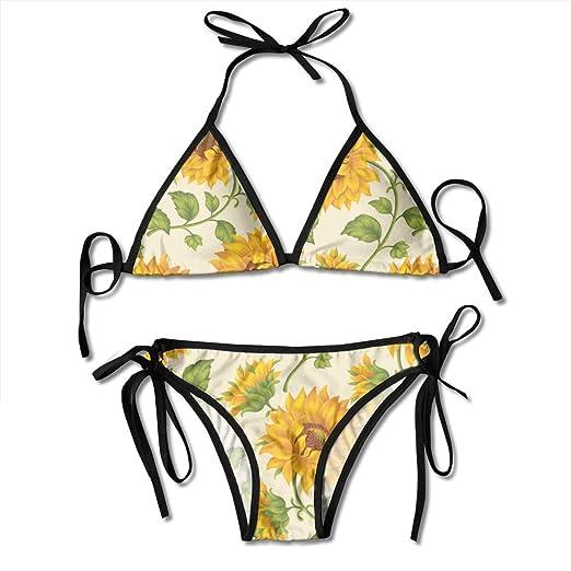 9b56d932b54f0 TIETIE Women Girl Ladies Bikini Sets Swimsuit for Vacation Beach Swim, Sexy  Strappy Beachwear Triangle
