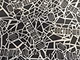 Black Dr. Who/ Doctor Who/ Shopping Tote/ Market Bag 16x20 inches