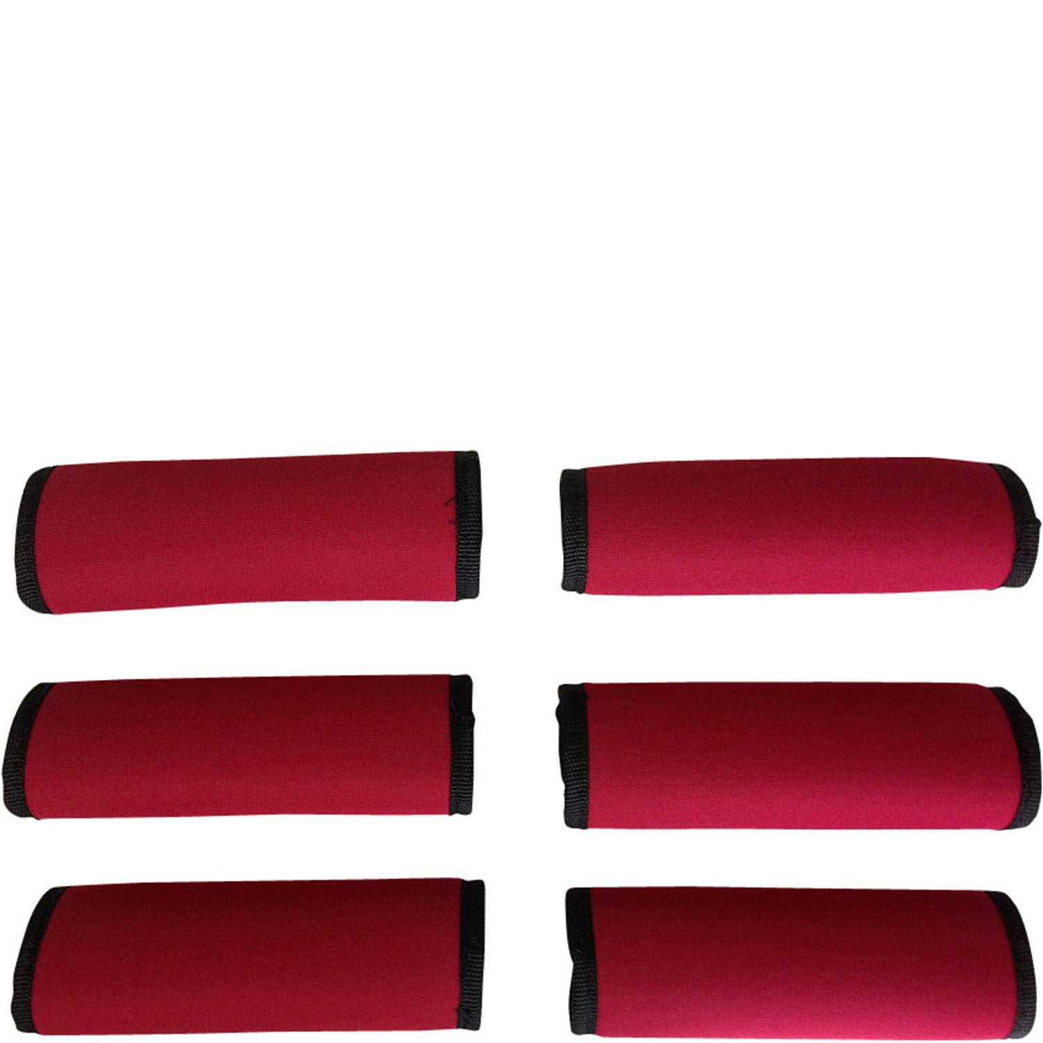 LUGGAGE SPOTTER SUPER GRABBER 6 PCS RED Soft Comfort Neoprene Handle Wraps Grip Luggage Identifier for Travel Bags Suitcases Heavy Grocery Bags and More! 50/% OFF
