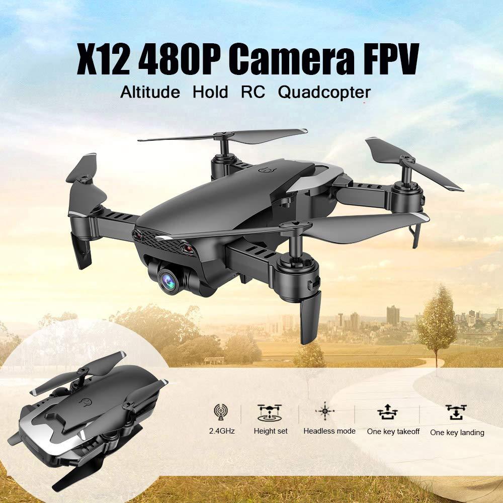 Goolsky Dongmingtuo X12 Drone con 0.3MP Cámara WiFi FPV Drone ...