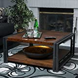 Unique Wood Coffee Tables for Sale Contemporary/ Modern Mayfair Dark Oak Wood Coffee Table (296327). 16.50 in High x 36 in Wide x 36 in Deep - Assembly Required