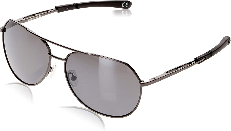 Gargoyles Performance Eyewear Victor Polarized Safety Glasses, Matte Dark Gun Frame/Smoke with Silver Mirror Lenses