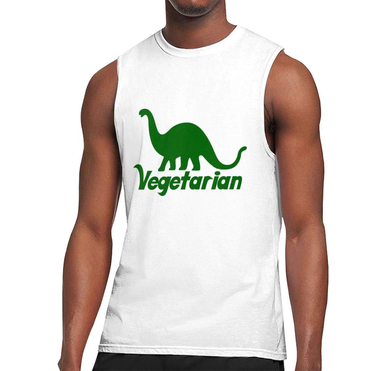 Seuriamin Vegetarian Dinosaur S Fashion Outdoor Sleeveless Muscle Short Sleeve T Shirts