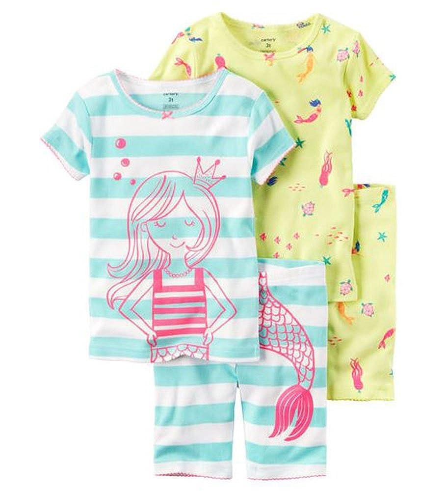 4448cd147 Amazon.com  Carters Baby Girls 4-Piece Snug Fit Cotton PJs Mermaid 9 ...
