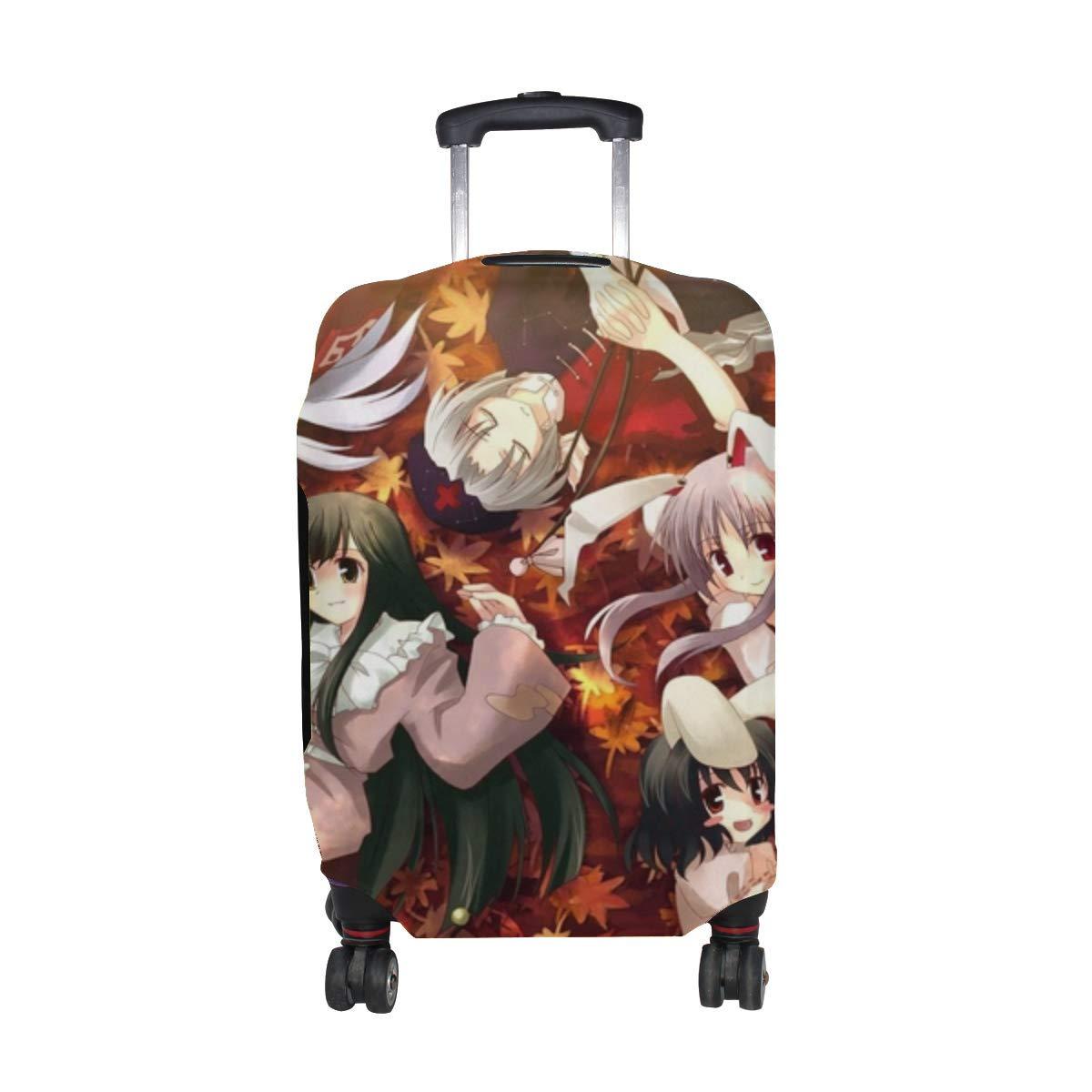 Maxm Mokou Houraisan Kaguya Inaba Yagokoro Eirin Yuuki Tatsuya Girls Leaves Autumn Pattern Print Travel Luggage Protector Baggage Suitcase Cover Fits 18-21 Inch Luggage