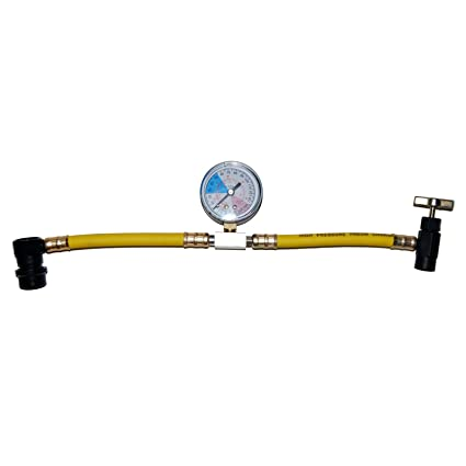 R-134a Recharge Hose With Gauge, R134A RECHARGE HOSE
