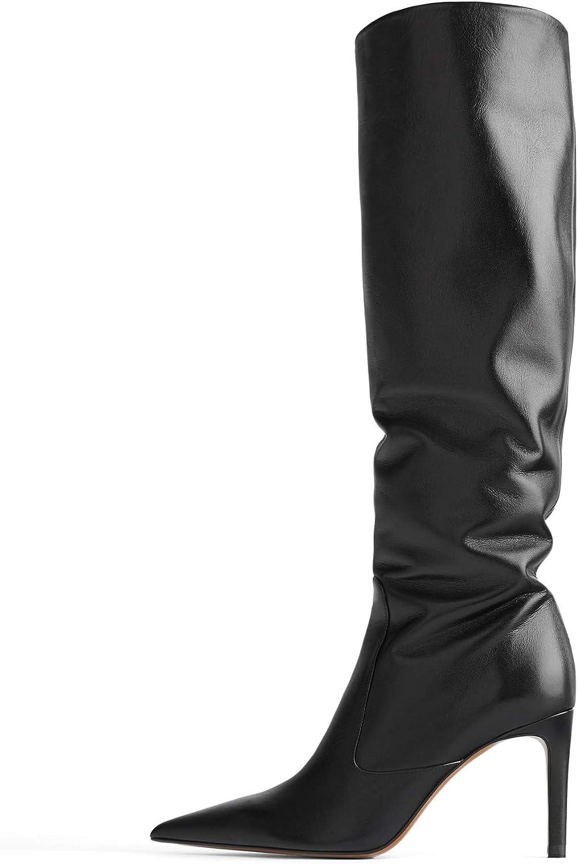 Zara 6020/001/040 - Botas de piel con tacón de aguja para ...