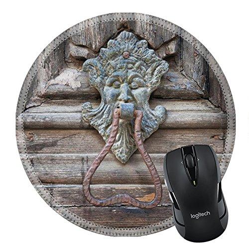 MSD Natural Rubber Mousepad Round Mouse Pad/Mat: 7090160 Doorknocker Altamura Cathedral Portal Apulia