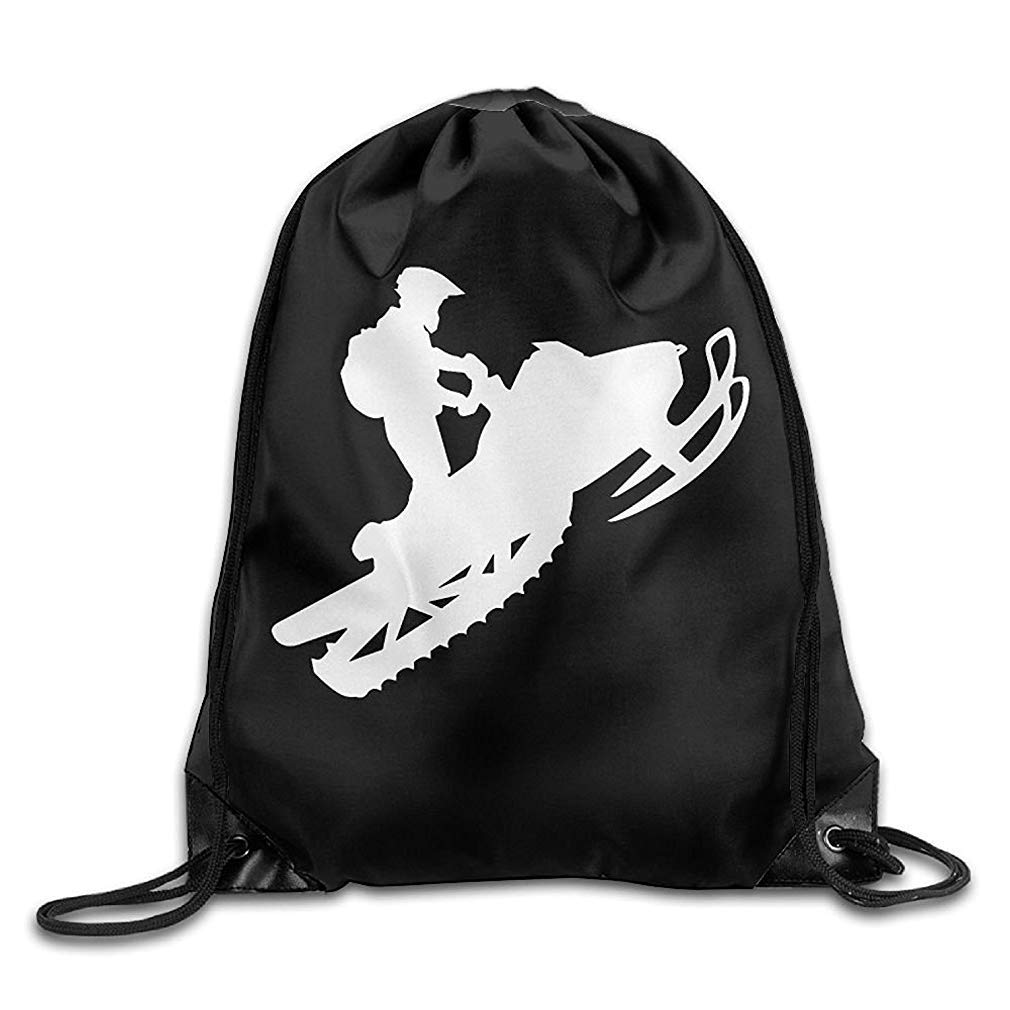 Snowmobile Drawstring Backpack Beam Mouth Sports Sackpack Shoulder Bags for Men & Women Usvbzd