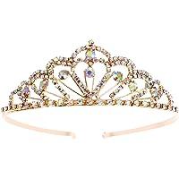 Cristal de chispa Colorido Piedras del Strass Tiara Corona Peine Diamante Princesa Tiara Casco nupcial Boda Tiara…