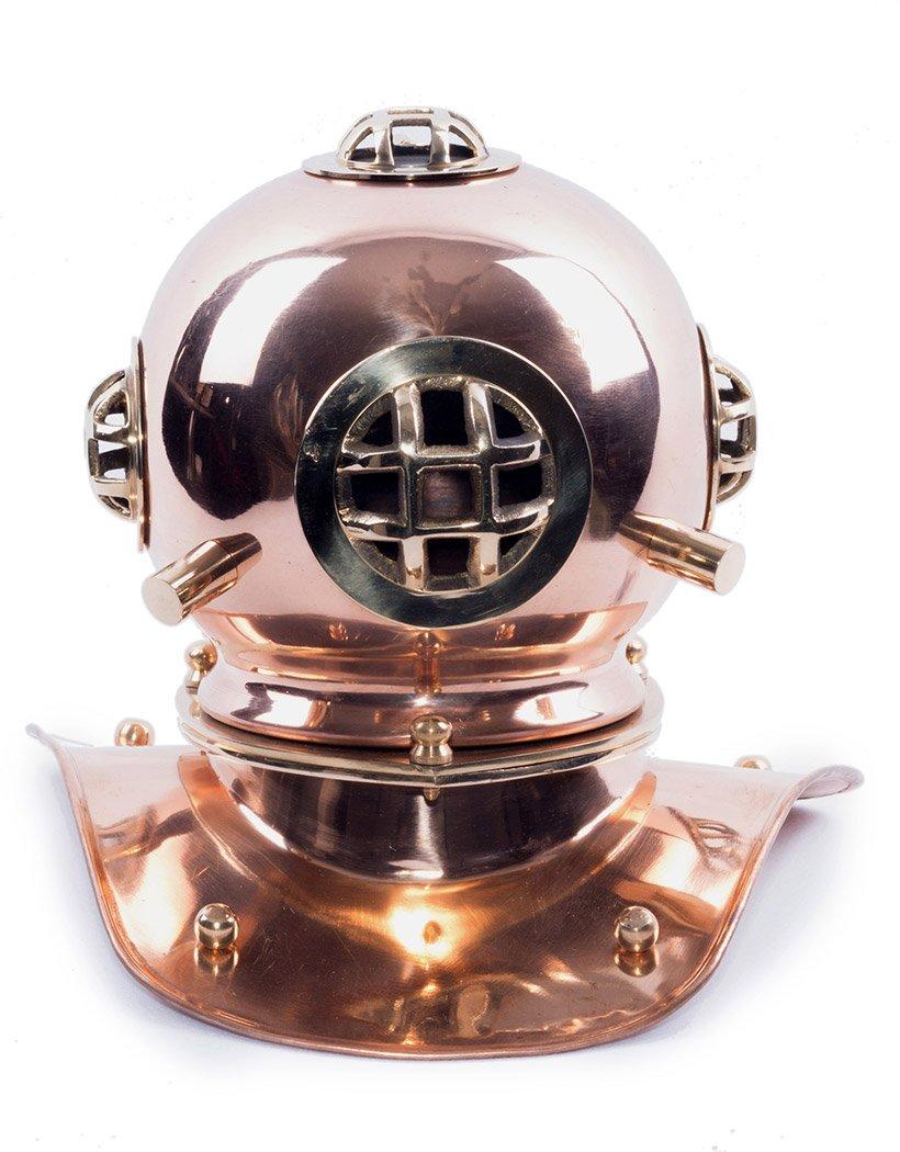 JapanAttitude Nachbildung SCAPHANDRE 20 20 20 cm Farbe Kupfer und Gold Steampunk Marineblau 973856