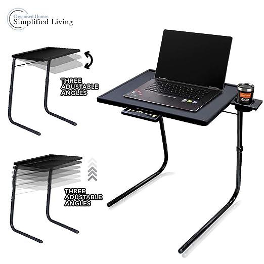 SIMPLE & Co Tabla Plegable Plegable portátil de la Bandeja portátil del Ordenador portátil de la TV del compañero con el Soporte de Vaso para la Oficina/el ...