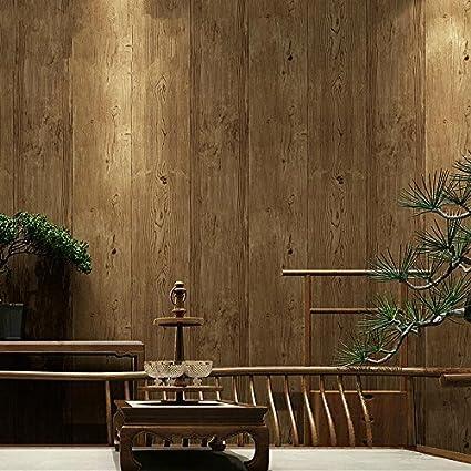 ANNDEEW papel pintado Tablón de madera fondo fondos salón pared 3D wallpaper , 4