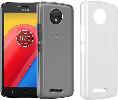 RIFFUE Funda Moto C, Motorola Moto C Carcasa Transparente Silicona ...