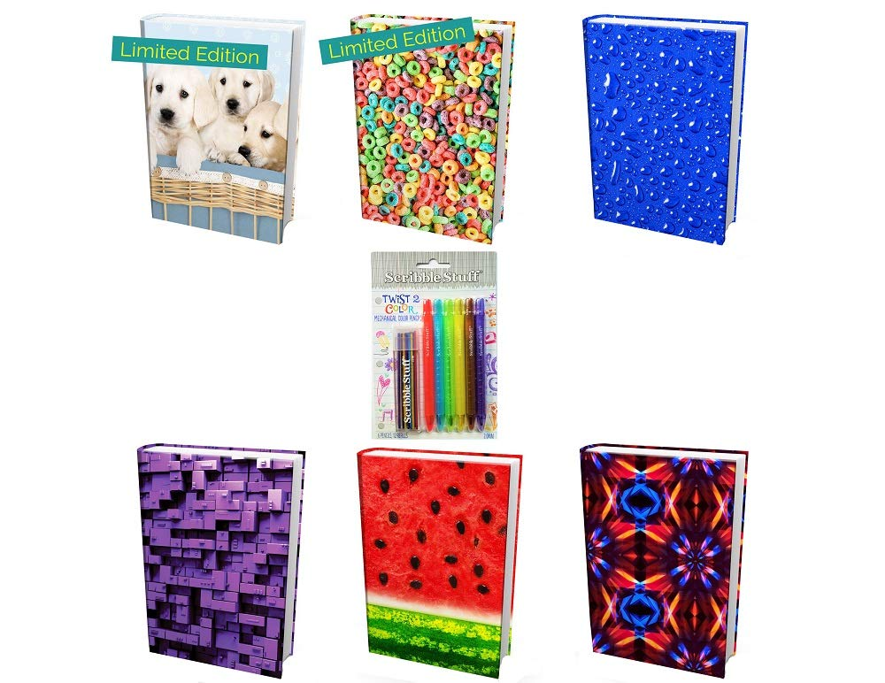 from The Original Home of Book Sox - 6 Nice Selections of Assorted Jumbo Prints Stretchable Book Covers. Including 2 Limited Editions (Puppies and Cereal Plus)