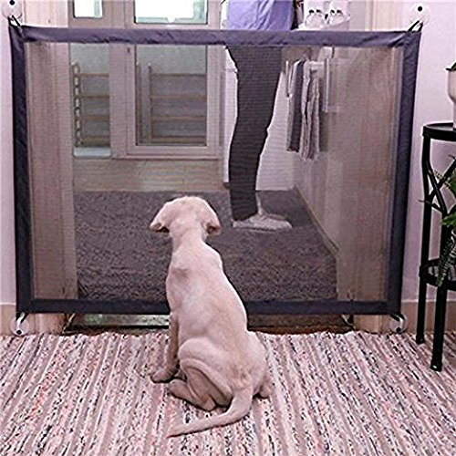 Xhonp Magic-Gate Dog Pet Fences Portable Folding Safe Guard Indoor and Outdoor Protection Safety Gate Extra Wide To Fit A Variety Of Openning ()