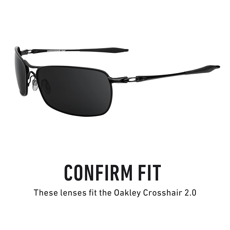 e4651ad38f Revant Polarized Replacement Lenses for Oakley Crosshair 2.0 Black Chrome  MirrorShield®  Amazon.ca  Sports   Outdoors