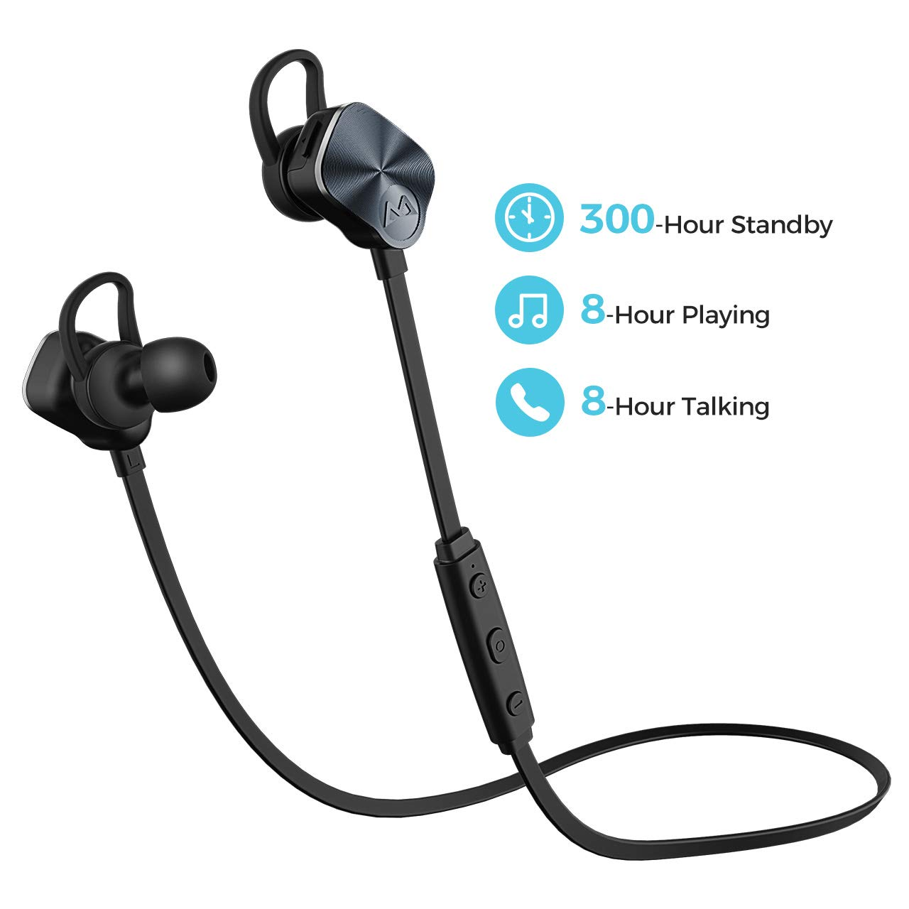 519f03ce9da Wireless Headphones, Mpow Bluetooth 4.1 Earphones Headsets IPX7 Lightweight Sports  Earbuds Running Headphones with Mic, Stereo Sound for WorkOut Gym ...