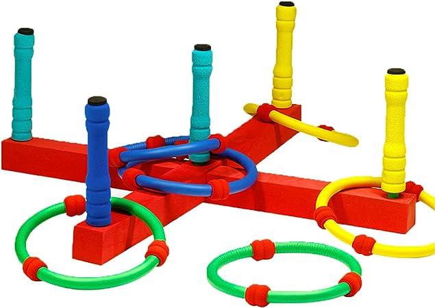 Cajolg Quoits Juegos de jardín para niños Ring Toss Game Outdoor Kids Garden Toys: Amazon.es: Hogar