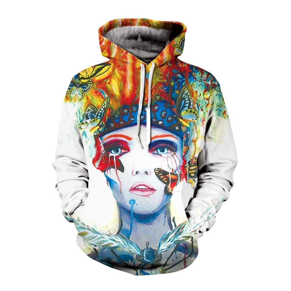 FuweiEncore Hoodies für Männer, psychedelische Hoodie, Bunte Hoodies, 3D Prints, Mode Sweatshirt, 3D Hoodies, 3D Sweatshirt, (Farbe   EIN, Größe   2XL) (Farbe   On, Größe   2XL)