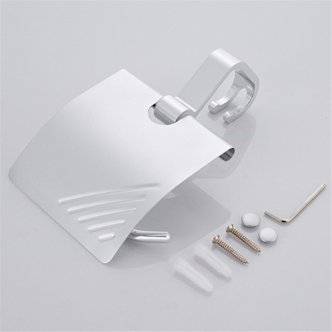 FACAIG The aluminum works light toilet paper holder bathroom accessories set by FACAIG (Image #3)