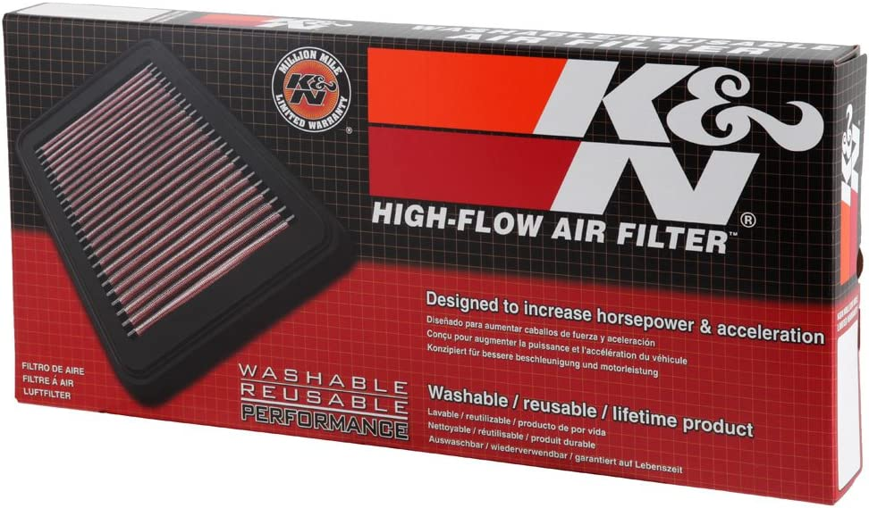 K/&N Engine Air Filter: High Performance 33-2915 Washable Premium A160, A180, A200, B180, B200 Replacement Filter: 2004-2011 MERCEDES BENZ
