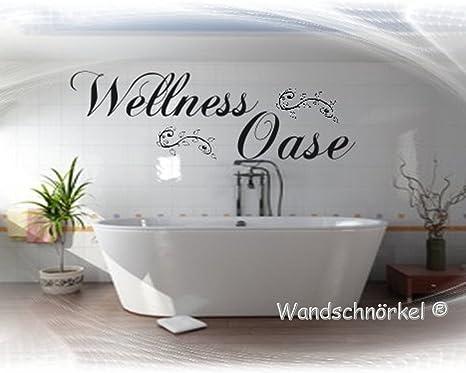 Wandtattoo Wellnessoase Wellness Oase Bad Schlafzimmer Sauna Wohnzimmer Wandaufkleber Viele Farben Grossen Amazon De Kuche Haushalt