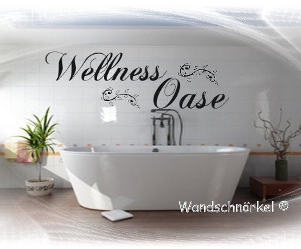 Wellnessoase Wellness Oase in SCHWARZ Wandtattoo Schlafzimmer Bad ...