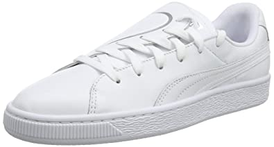 on sale 7e760 d26a6 Puma Basket Crush Emboss Wn s, Sneakers Basses Femme, Blanc White Silver,  ...