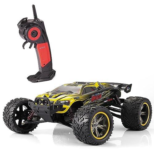 GP TOYS RC Autos 1/12 Luctan Ferngesteuertes Fahrzeug 2WD 2.4 GHz Halb-wasserdicht Monstertruck Truggy ---beste Geburtstag Geschenk für Kinder (Die Dritten Generation) (Gelb)