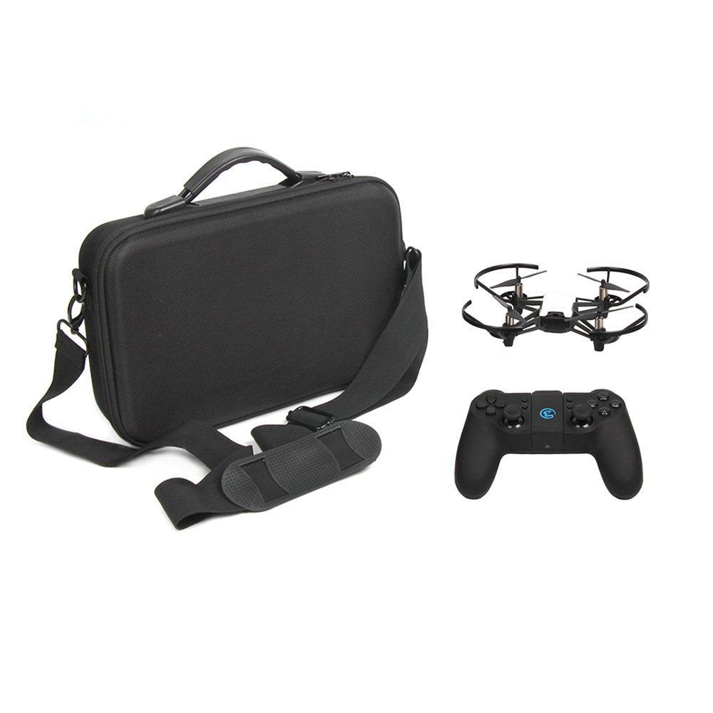 Teeggi DJI Tello Drone Portable Carrying Case Handbag Protective Shoulder Bag for Tello Quadcopter and Accessories, Fits for 2 Extra Batteries, USB Charge Cable, Drone Body (Propellers Guards on)