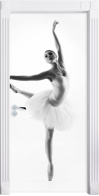 Ballerina estetico che Murale, Formato: 200x90cm, telaio della porta, adesivi porta, porta decorazione, autoadesivi del portello Stil.Zeit Möbel