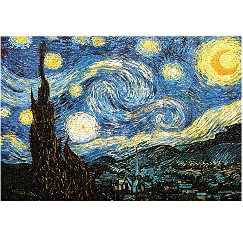 3000 Piece Jigsaw Puzzles for Adults - Van Gogh The Starry Night - 45.27'' X 32.28'' - Thick Paper Puzzles Cardboard Puzzles