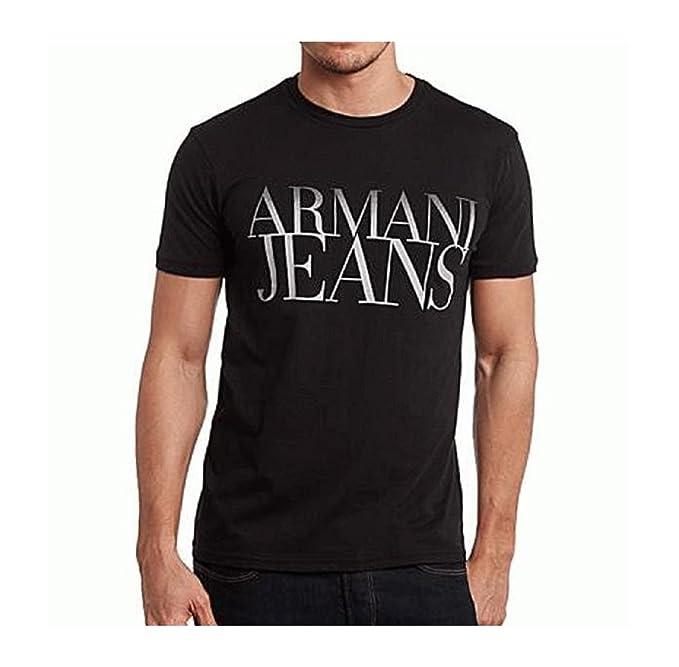 Emporio Armani - Camiseta de Manga Larga - para Hombre Negro L: Amazon.es: Ropa y accesorios