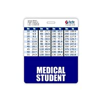 Medical Student Badge Buddy Horizontal w/Height & Weight Conversion Charts (Oversized, Navy)