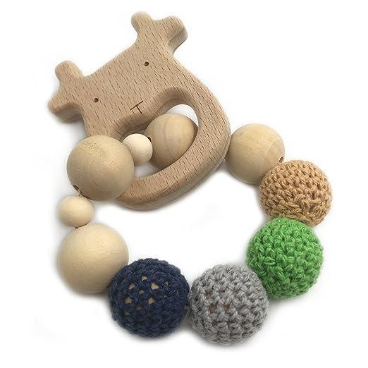Amazon.com: amyster Crochet Bead Anillo de dentición Set sin ...