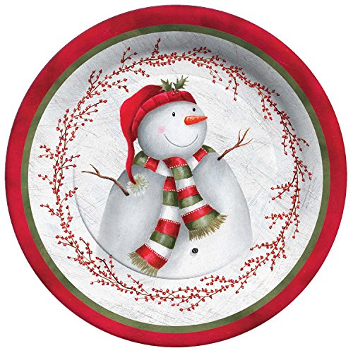 Gibson Snowman (C.R. Gibson 8 Count Winter Berry Snowman Paper Dinner Plates)