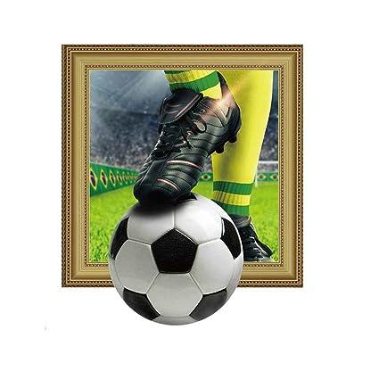 Babysbreath17 Zapatos 45x60cm Deportes y Modelo del fútbol Pared 3D  Etiqueta engomada del Tatuaje para la 2c61f63f7fba4