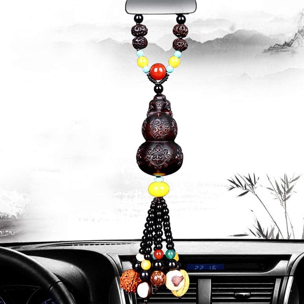 CKH - Colgante para decoración del hogar, ágata Bodhi de madera de melocotón, colgante de coche, creativo artesanía, regalos interiores, Ágata de madera durazno, L2