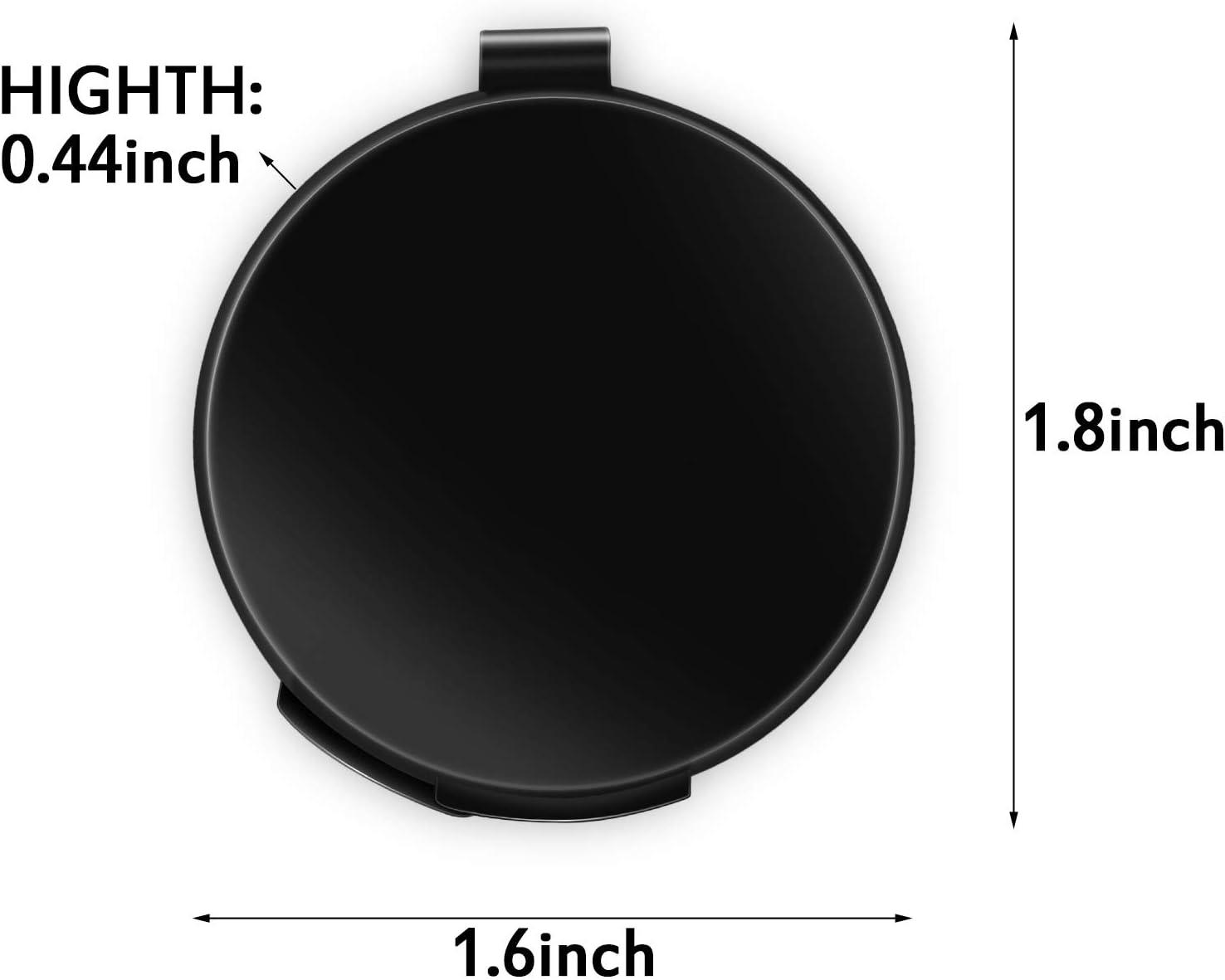 Outus Tampone per Impronte Digitali Professionale Tampone per Inchiostro per Dita Cancellabile ad Asciugatura Rapida con Cancella Impressioni Nere per ID di Identificazione e Sicurezza Tondo