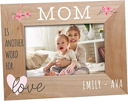 Amazon Com Giftsforyounow Mom Is Another Word For Love Personalized Frame