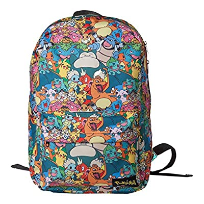 Official Pokemon All Over Print Multi Character Backpack School Laptop Bag 30%OFF
