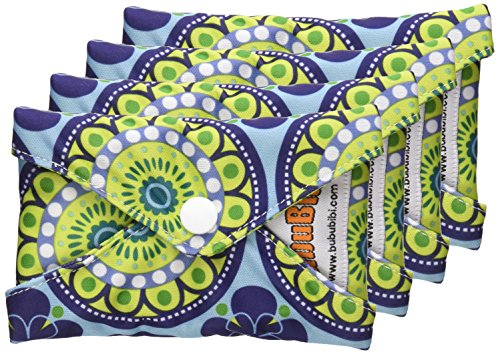 4 Bamboo Mama Cloth/ Menstrual Pads/ Reusable & Water proof Sanitary Pads / Panty Liners - PRINTS (Starburst)