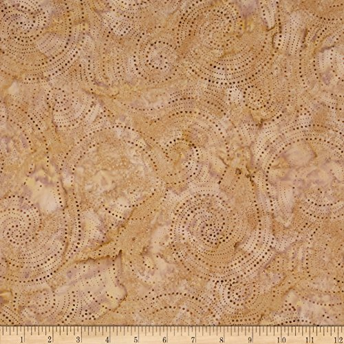Textile Creations Indonesian Batik Swirl Brown Fabric by The Yard