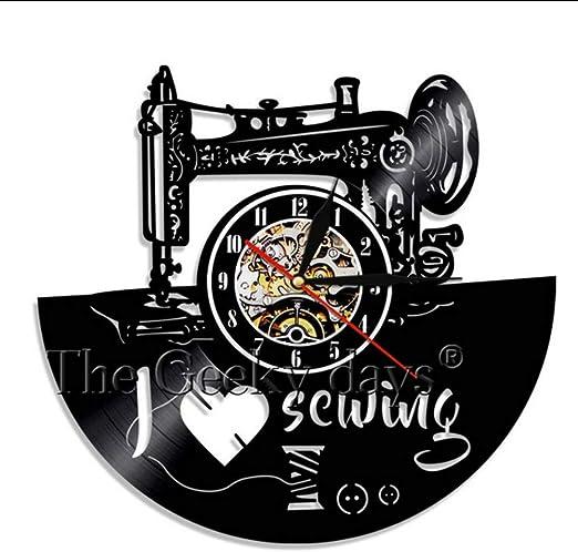 TIANZly Me Gusta Coser Vintage Disco De Vinilo Reloj De Pared ...
