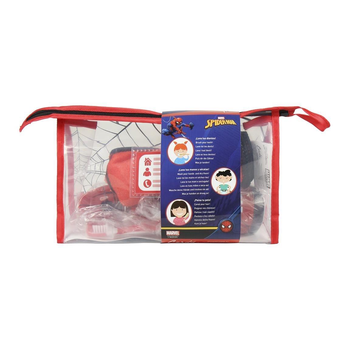 Kit Neceser de viaje Spider-Man para viaje o para el colegio/Neceser de viaje Spiderman Licenciado, Medidas 230x155x80 mm Color Rojo: Amazon.es: Equipaje