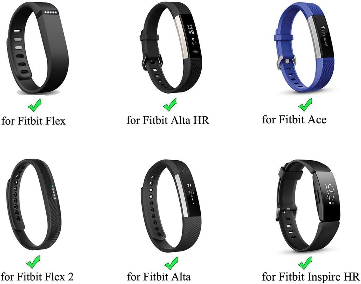 EverAct Trade; Silicon Fasteners for Fitbit Alta//Flex//Garmin,Color Your Life